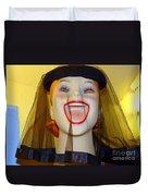 Veiled Laugh Duvet Cover