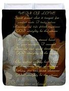 Vein Of Love Poem Duvet Cover