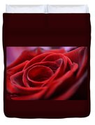 Velvet In Red Duvet Cover
