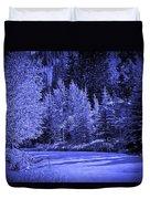 Velvet Winter - Vail - Colorado Duvet Cover