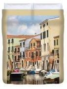 Venetian Apartments Impasto Duvet Cover