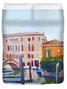 Venetian Cityscape Duvet Cover by Filip Mihail