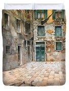 Venetian Courtyard 02 Elena Yakubovich Duvet Cover