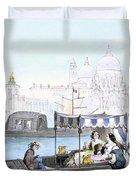 Venetian Gondola, From Vedute Dei Duvet Cover