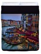 Venetian Grand Canal At Dusk Duvet Cover