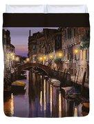 Venezia Al Crepuscolo Duvet Cover