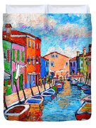 Venezia Colorful Burano Duvet Cover