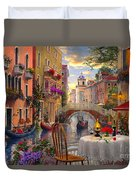 Venice Al Fresco Duvet Cover by Dominic Davison