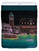 Venice At Night Duvet Cover