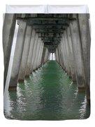 Venice Beach Pier Structure Duvet Cover