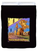 Venice Beach Posterized Duvet Cover