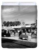 Venice Beach Street Venders Duvet Cover