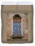 Venice Blue Arched Window Duvet Cover