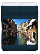 Venice Canal Duvet Cover by Bill Cannon