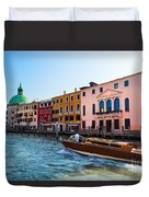 Venice Grand Canal View Italy Sunny Day Duvet Cover