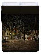 Venice Square At Night Duvet Cover