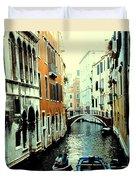 Venice Street Scene Duvet Cover