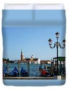 Venice View On Basilica Di San Giorgio Maggiore Duvet Cover