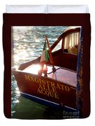 Venice Water Authority Boat Duvet Cover