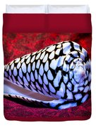 Venomous Conus Shell Duvet Cover