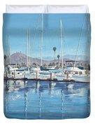 Ventura Harbor Morning Light Duvet Cover