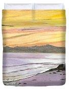 Ventura Point At Sunset Duvet Cover