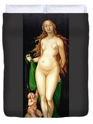 Venus And Amor Duvet Cover