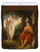 Venus And Anchises Duvet Cover