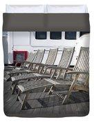 Verandah Seating 02 Queen Mary Ocean Liner Long Beach Ca Duvet Cover