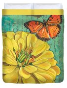 Verdigris Floral 2 Duvet Cover