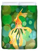 Vermilion Goldfish Duvet Cover