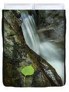 Vermont Aspen Leaf Waterfall Camels Hump Duxbury Duvet Cover
