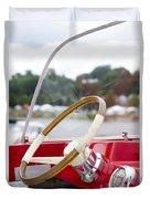 Vermont Boat Docked Duvet Cover