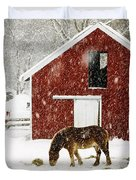 Vermont Christmas Eve Snowstorm Duvet Cover