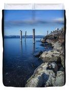 Vermont Lake Champlain Sunrise Burlington Duvet Cover