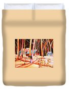 Vermont Maple Syrup Duvet Cover by Carole Spandau