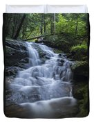 Vermont New England Waterfall Green Trees Forest Duvet Cover