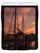 Vermont Sunrise Boats Pier Lake Champlain Duvet Cover