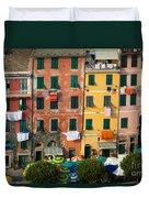 Vernazza Facades Duvet Cover