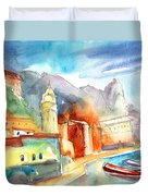 Vernazza In Italy 07 Duvet Cover