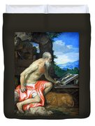Veronese's Saint Jerome In The Wilderness Duvet Cover