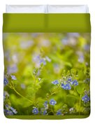 Veronica Chamaedrys Named Speedwell Or Gypsyweed Duvet Cover