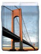 Verrazano Bridge At Sunrise - Verrazano Narrows Duvet Cover