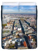 Vertical Aerial View Of Berlin Duvet Cover