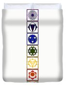 Vertical Columns Of Energy Abstract Chakra Art By Omaste Witkows Duvet Cover