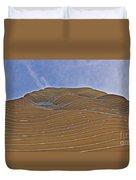 Vertical Dune - The Aqua Tower Duvet Cover