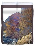 Vertical View Of Big Painted Canyon Trail In Mecca Hills-ca Duvet Cover