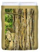 Vertical Vines Duvet Cover by Jess Kraft