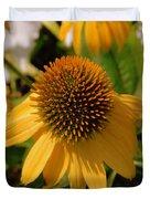 Vertical Yellow Flowers Duvet Cover