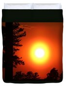 Very Colorful Sunset Duvet Cover
